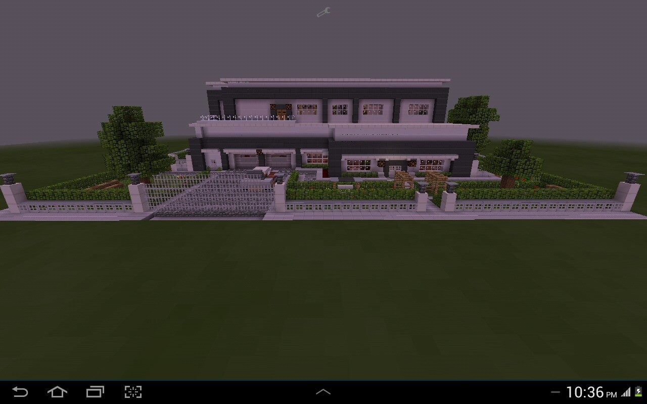 Redstone modern house mcpe mcpe maps minecraft for Modern house map
