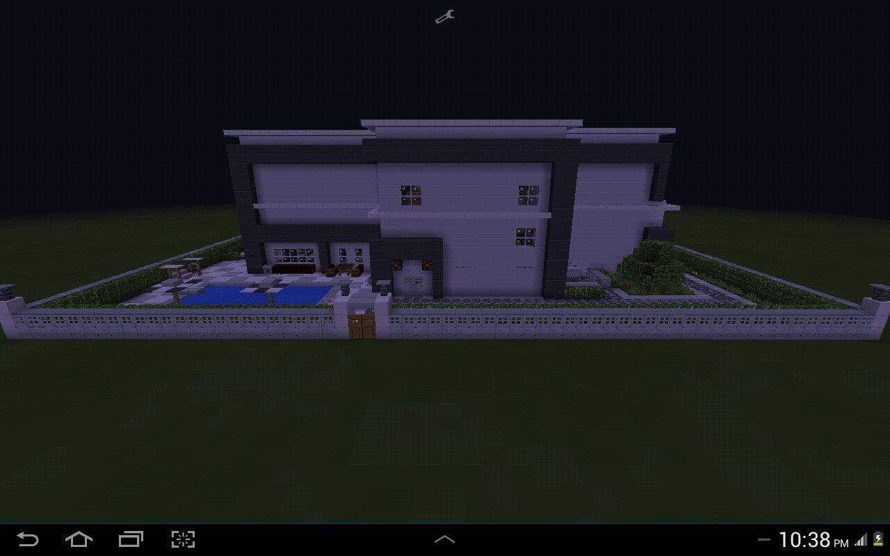 Redstone Modern House Mcpe Mcpe Maps Minecraft Pocket
