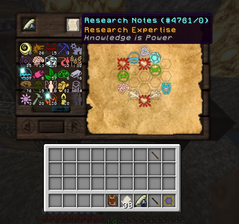 Ring Of Nutrition Research Notes Thaumcraft