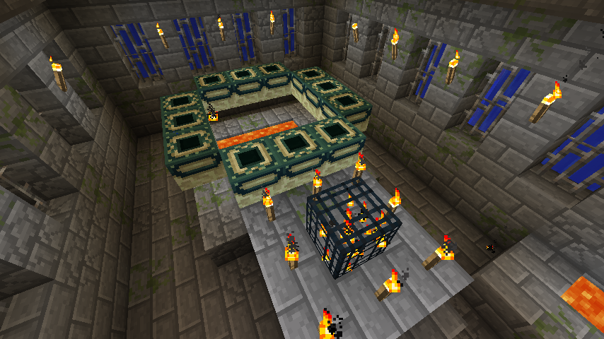 how to make a end portal in minecraft pc