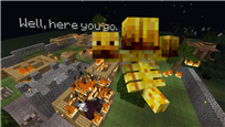 Blaze Wither burnt this Village to a crisp!
