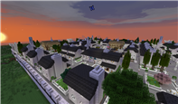 Gondor - a walled town in Anórien